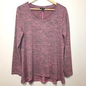Jones New York Long Sleeve Sweater Top Pink Size L